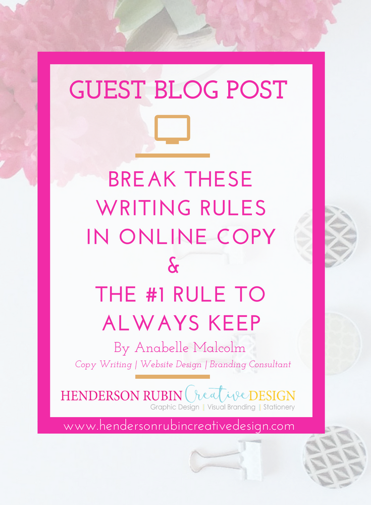 Writing Rules in online copy
